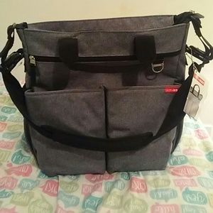 Big gray baby bag